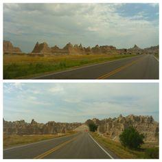 Driving through The Badlands, SD