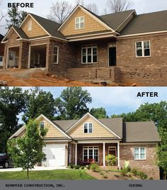 Rempfer Construction, Inc. - Siding Before & After Construction, House Design, Cabin, House Styles, Home Decor, Building, Homemade Home Decor, Interior Design, Architecture Illustrations
