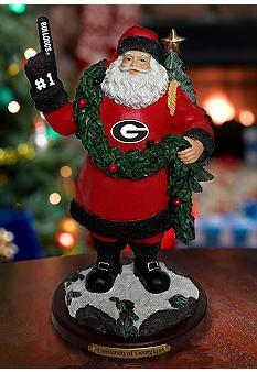 Georgia Bulldogs Santa Figurine