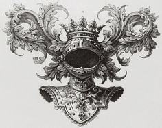 Knight helmet, with crown, heraldry flirish Inspiration Drawing, Tattoo Inspiration, Ink Illustrations, Illustration Art, Tattoo Drawings, Art Drawings, Knight Tattoo, Scratchboard Art, Ornament Drawing