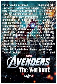 The Avengers   Community Post: 20 Fandom-Based Workouts To Get You Up And Moving Netflix TV Workouts, TV Workout Games
