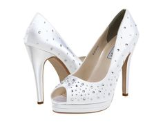 Crystal Bridal pumps and they won't bust our budget!