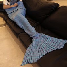 Chic Knitted Fishtail Blanket For Women