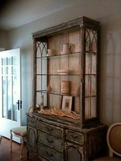 Beautiful antique hutch