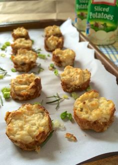 Rosemary Scallion Potato Puffs - serve these before or during your brunch! Recipe by Deanna Segrave-Daly, RD hughes hughes Segrave-Daly Gf Recipes, Snack Recipes, Snacks, Potato Puffs, Easter Brunch, Spring Recipes, Appetizers For Party, Taste Buds, Recipe Using