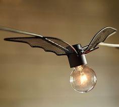 Wire Bat String Lights #potterybarn