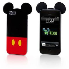 You'll have an extra set of ears on all your calls with this Mickey-shaped clip case for iPhone 5.