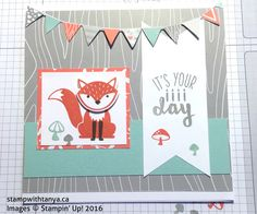 The Foxy Friends Bundle from Stampin' Up! makes everything so simple. With the coordinating stamps, designer series paper and the punch you can't make a bad card! Here is a cute birthda…