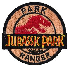 Jurassic Park Ranger Iron On Patch Uniform Movie Film Cosplay Logo Costume in Collectables, Pins, Badges, Patches, Patches Cute Patches, Pin And Patches, Iron On Patches, Jacket Patches, Do It Yourself Fashion, Morale Patch, Embroidery Designs, Cool Pins, Embroidery Patches