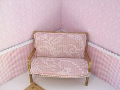 Couch, dollhouse miniature, scale 1:12