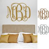 """Our #1 selling Monogram Wall Decal is now available in Metallics for Fall!!!! 6 sizes available and your choice of either gold, silver or cooper vinyl!! """"Glam It Up"""" and add the finishing touch to any room makeover with a Metallic Monogram Wall Decal from Three Hip Chicks!!!"""