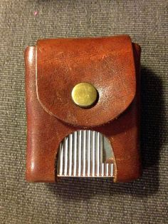 Vintage Leather Zippo Holster by TheLeafery on Etsy, $16.00