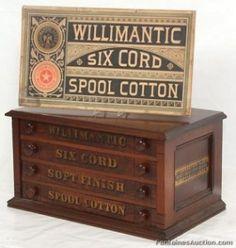 Willimantic Walnut 4 Dwr. Spool Cabinet