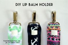 Easy lip balm holder made from ribbon (very little sewing necessary)