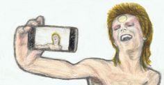 Ziggy Stardust taking a selfie
