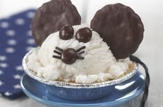 Mice Cream! Quick and cute. I'd probably leave off the whiskers in a rush...or leave it for detail oriented children! ;-)