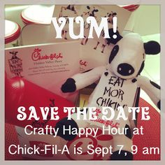Mothership Scrapbook Gal's Crafty Happy Hour at Chick-Fil-A on September 7, 2013 from 9 am to 11 am - See you there!  For info:  www.mothershipscrapbookgal.com