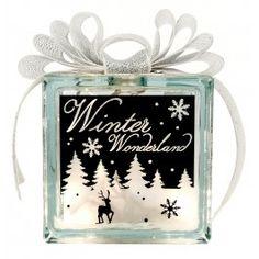Nicole™ Crafts Winter Wonderland Glass Block