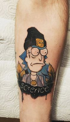 Best 40 Rick and Morty Fan Tattoos Punk Tattoo, Tattoo You, Arm Tattoo, Sleeve Tattoos, Tatuaje Rick And Morty, Rick And Morty Tattoo, Graffiti Tattoo, One Punch Man, Ricks Tattoo