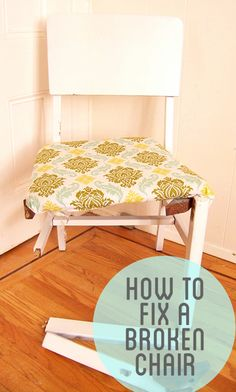 How to fix a broken chair with belts