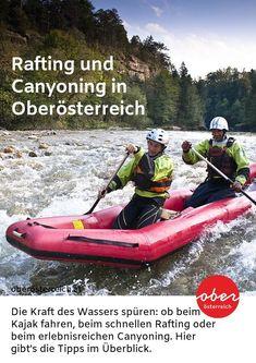 Adrenalin gefällig? Dann sind diese Raftig- und Canyoningstrecken genau das Richtige für deinen Urlaub in Österreich.   #Österreich #UrlaubinÖsterreich #Oberösterreich #Austria #Rafting #Canyoning #Outdoor Rafting, Boat, Travel, Outdoor, Canoe, Ski, Alps, Outdoors, Dinghy
