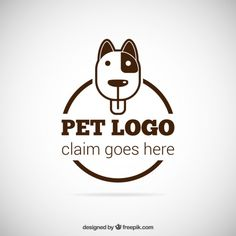 Pet logo Free Vector