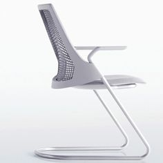 Sayl - Herman Miller - BMS - Yves Behar #hermanmillerchairs Patio Chair Cushions, Lawn Chairs, Herman Miller, Cantilever Chair, Birkenstock, Lounge Chair Design, Occasional Chairs, Hanging Chair, Floor Chair