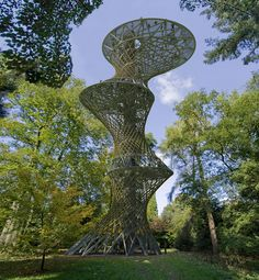 A observation tower billed as the world's first vertical cable car has topped out in Brighton, England, according to architect Marks Barfield Bamboo Architecture, Sustainable Architecture, Amazing Architecture, Interior Architecture, Environmental Architecture, Classical Architecture, Residential Architecture, Sustainable Design, Contemporary Architecture