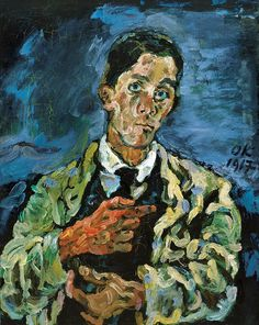 Oskar Kokoschka (1886-1980) • Self-Portrait, 1916