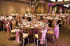 Calgary Real Weddings.  Brown and pink wedding.  Hotel Arts