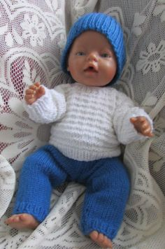 Knitted dolls clothes by ConnieGifts on Etsy Baby Doll Clothes, Baby Dolls, Acrylic Wool, Baby Born, Knitted Dolls, Double Knitting, Knit Crochet, Barbie, Etsy