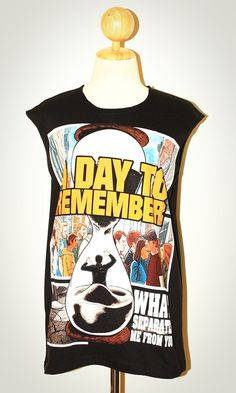 A DAY TO REMEMBER Black Singlet Tank Top Sleeveless by pleiadeshop, $16.99