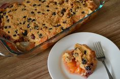 Peach Cobbler with Blueberry Biscuit Topping (Paleo)