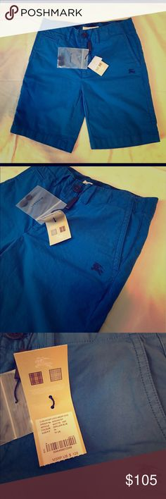 Burberry kids collection Turquoise shorts. New with tags Burberry Bottoms Shorts