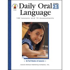 Daily Oral Language is an excellent resource that teaches linguistic and grammar skills, prepares students to write and edit their own stories, and familiarizes students with standardized test-taking practices. It includes 180 brief daily oral exercises a Grammar Skills, Grammar And Punctuation, Fifth Grade, Grade 3, Daily Oral Language, Carson Dellosa, Teaching Supplies, Learn Hebrew, Teaching Reading