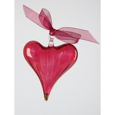 I have bought this glass heart ornament for our room, but the ribbon on mine is different. Prefer this so must change it.  Classic Heart Ruby-Gold