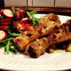 Kyllingelår med salat