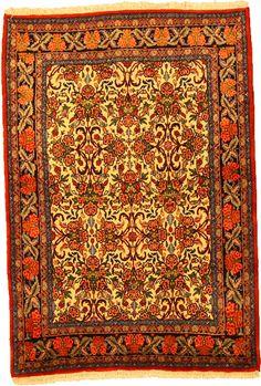 Ivory 3' 5 x 4' 11 Bidjar Rug | Persian Rugs | eSaleRugs... Foyer