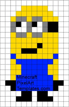 MINECRAFT PIXEL ART – One of the most convenient methods to obtain your imaginative juices flowing in Minecraft is pixel art. Pixel art makes use of various blocks in Minecraft to develop pic… Arte Post It, Post It Art, Crochet Pixel, Minion Crochet, Pixel Crochet Blanket, Crochet Cowls, Tunisian Crochet, Crochet Stitch, Pixel Art Templates Minecraft