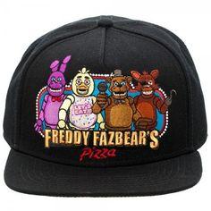 new concept 03e0f 0ae06 Go to product Freddy Fazbear, Black Snapback Hats, Snapback Cap, Five  Nights At