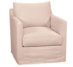 Miles Accent chairs are available as swivel gliders, too. Fully upholstered or slipcovered chairs.