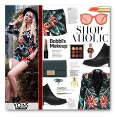 """Shop Aholic"" by tasnime-ben ❤ liked on Polyvore featuring Karen Walker, Arquiste Parfumeur, MAC Cosmetics, Smashbox, Topshop, Tory Burch and yoins"
