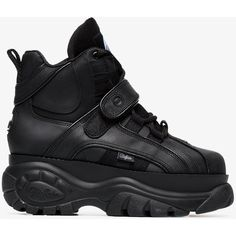 73189eea4b05 Buffalo Black 1348 Platform Sneaker Boots (€195) ❤ liked on Polyvore  featuring shoes