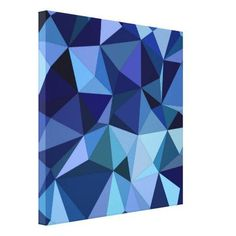 Shop Blue triangles canvas print created by ZyddArt. Canvas Art, Canvas Prints, Art Prints, Triangle Pattern, Wall Decor, Wall Art, Blue Abstract, Quilts, Triangles