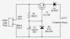 portable usb charger circuit diagram sci pinterest portable rh pinterest com