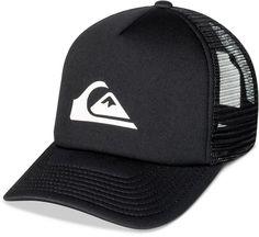 62cedc9adb1 Quiksilver Men s Snaption Logo-Print Trucker Hat Hat Men