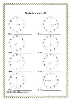 Quelle heure est-il? Plus