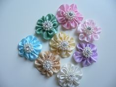 How to Make Fabric Ribbon Flowers
