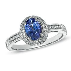 I've tagged a product on Zales: Oval Tanzanite and Diamond Accent Ring in Sterling Silver