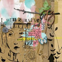 I am enough (Elements) by Li Li Wee I am enough (Papers) by Li Li Wee fonts: DSnet Stamped, a Auto Signature Elements, Art, Artsy, Assemblage, Altered Art, Mixed Media Art Journaling, Colours